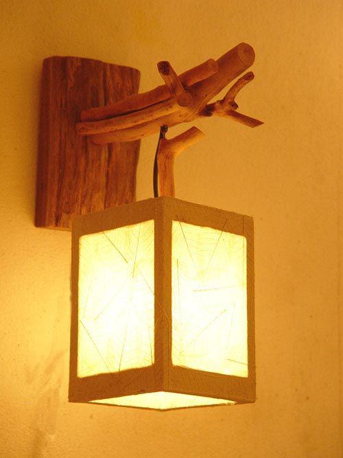 Extravagante Wandleuchten klassisches Design im Landhausstil Wandlampe aus Holz
