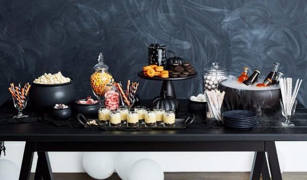 Festliche Tischgestaltung Halloween Deko