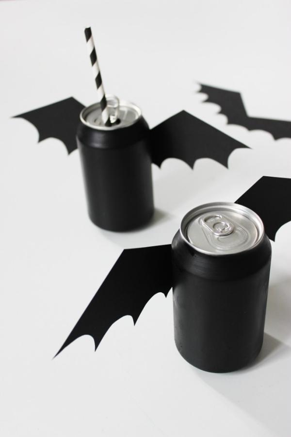 Fledermaus basteln mit Kindern zu Halloween – 50 bezaubernde Ideen und Anleitungen aludose fledermaus deko ideen