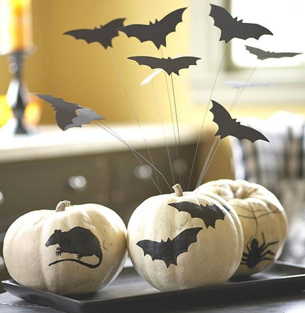 Fledermaus basteln mit Kindern zu Halloween – 50 bezaubernde Ideen und Anleitungen gruselige halloween kürbisse ratten