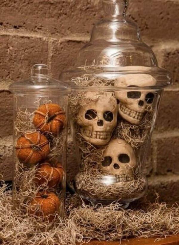 Halloween Deko Bastelideen im Glas