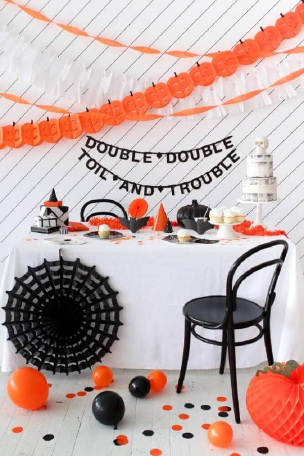 Halloween Deko Wandgestaltung und Party