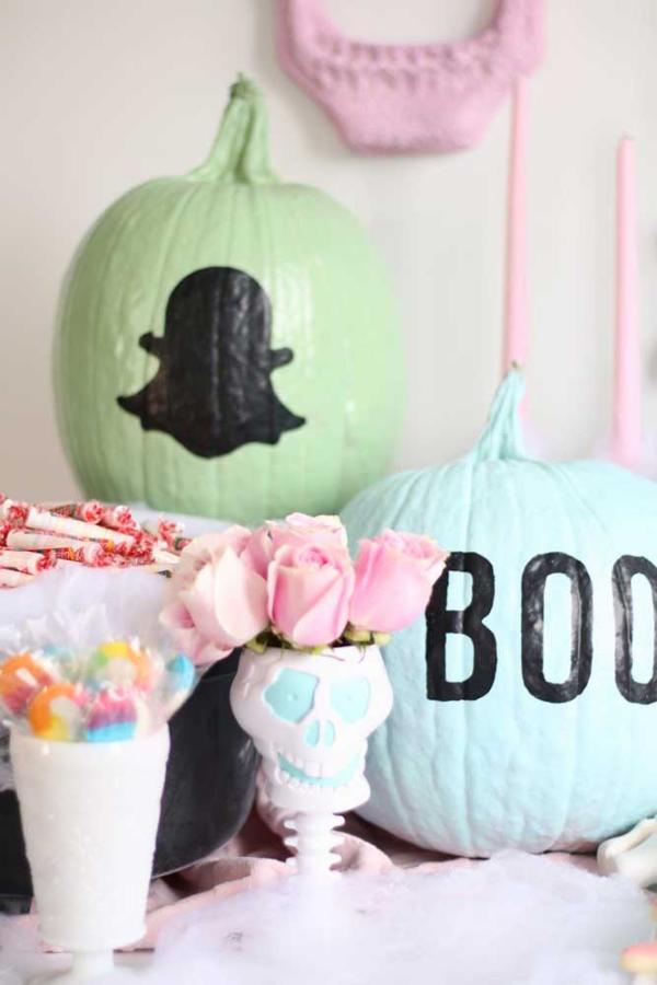 Kürbis ideen halloween deko selber machen