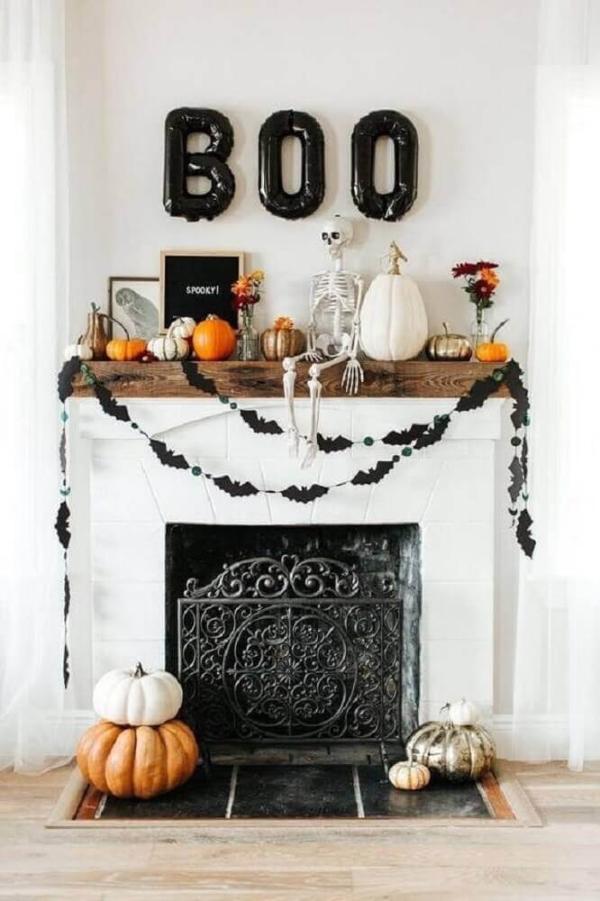 Kamingestaltung tolle Ideen Halloween Deko