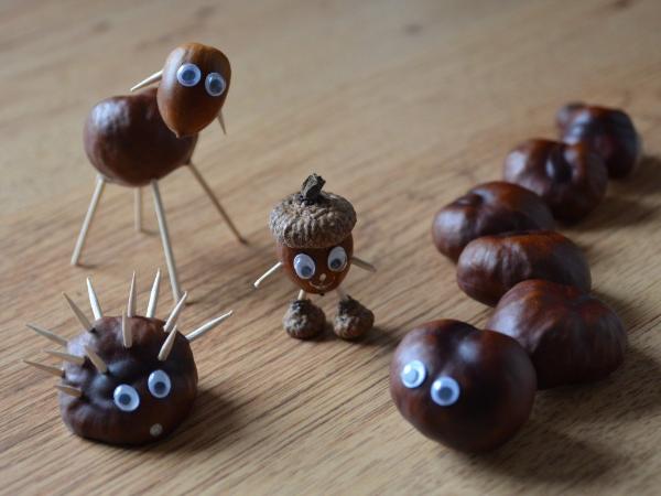 Kastanienfiguren Basteln für Kinder und Erwachsene