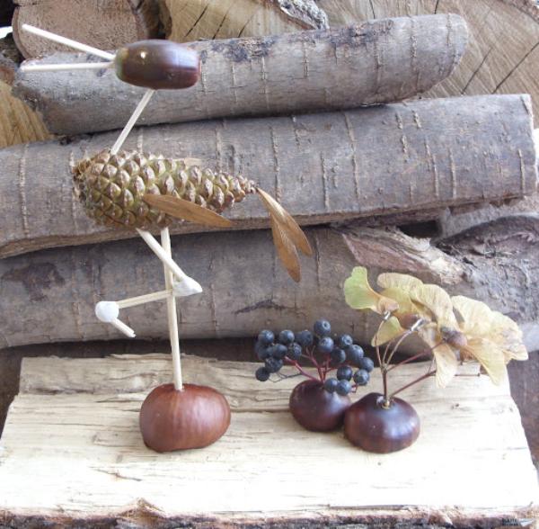 Kastanienfiguren deko für den herbst deko ideen