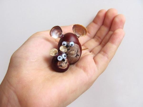 Kleine Kastanien - tolle Figuren Kastanienfiguren