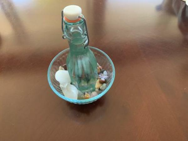 Kristallwasser Flaschenwasser Glas Kristalle