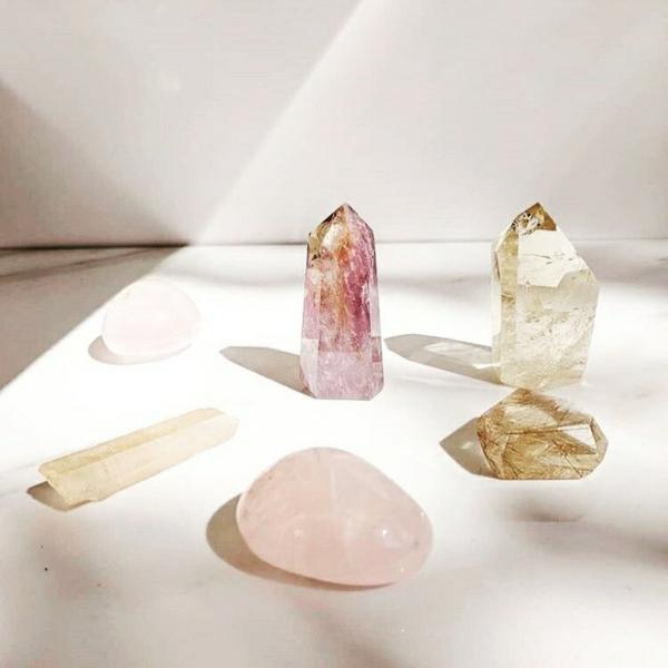 Kristallwasser Rosenquarz Bergkristall
