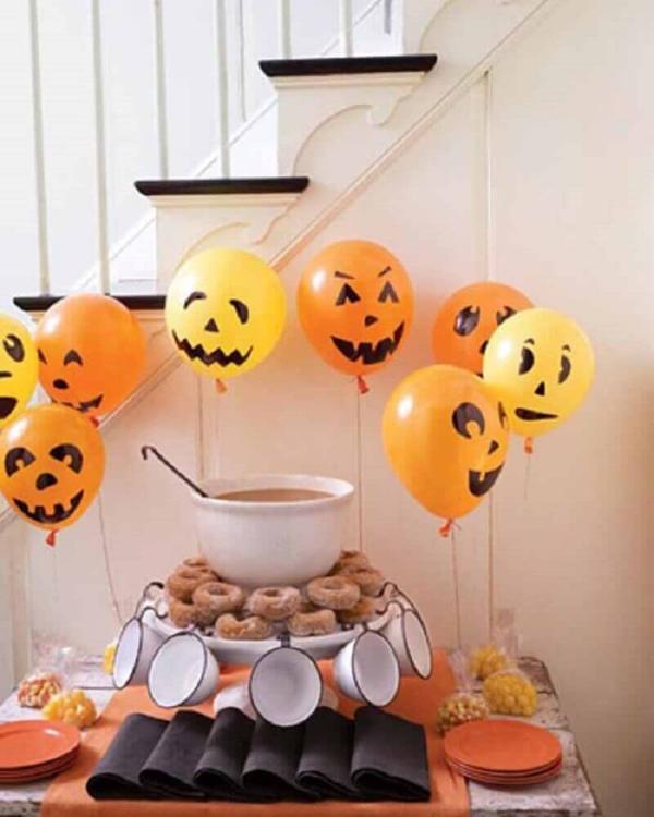 Lustige Lufzballons Halloween Deko