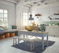 Mit Kalkfarbe streichen oder wie man Holz tüncht – 4 verschiedene Techniken