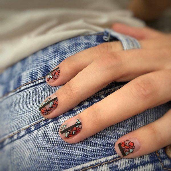 Nagel Trends Jeans und moderne Nägel Ideen