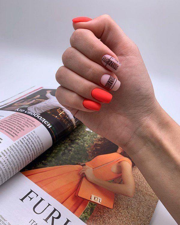 Nagel Trends - Orangene und neutrale Schattierungen