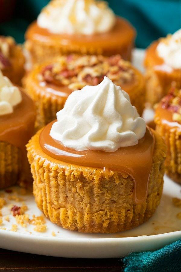 No Bake Kürbiskäsekuchen Rezept Halloween Dessert ohne Baken