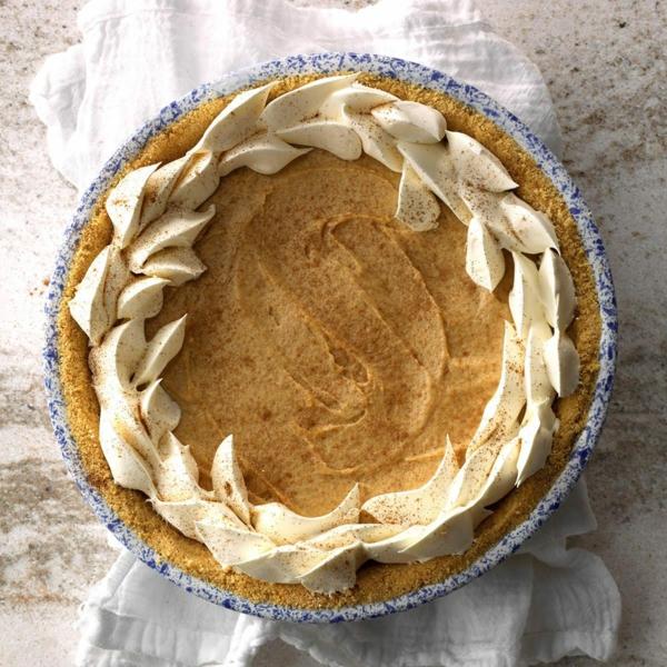No Bake Kürbiskäsekuchen Rezept Käsekuchen ohne Baken mit Sahne