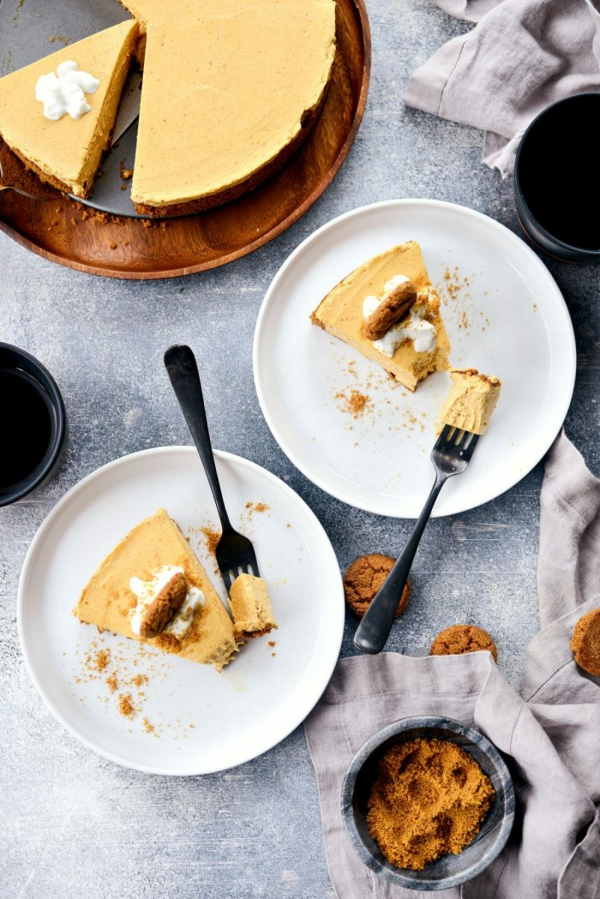 No Bake Kürbiskäsekuchen Rezept Käsekuchen ohne Baken zubereiten