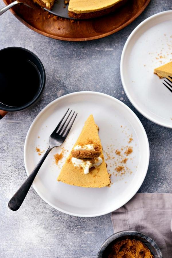 No Bake Kürbiskäsekuchen Rezept Käsekuchen