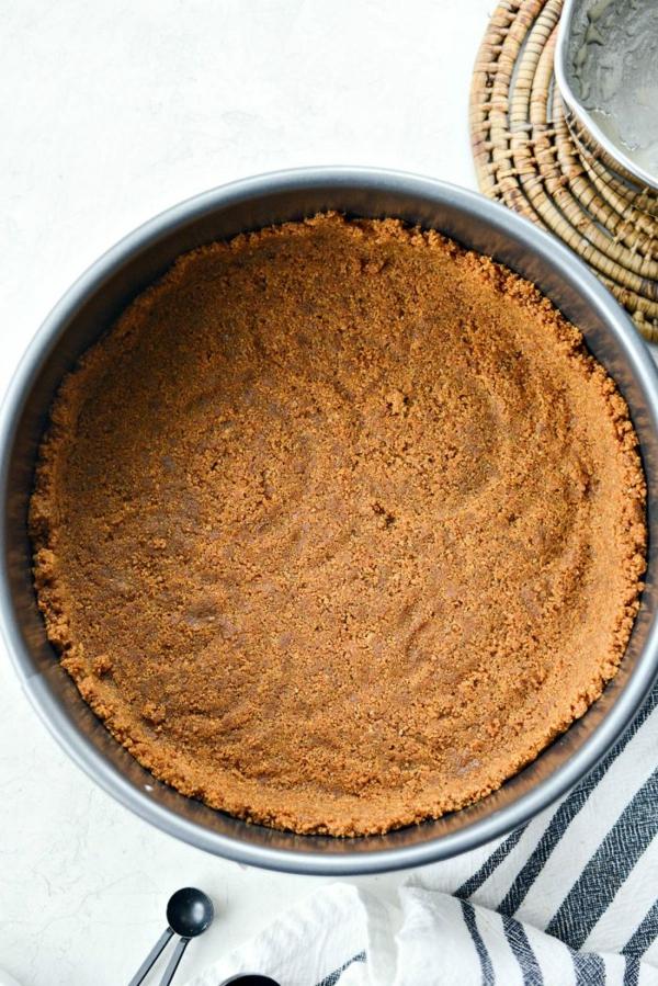 No Bake Kürbiskäsekuchen Rezept Keksboden ohne Baken