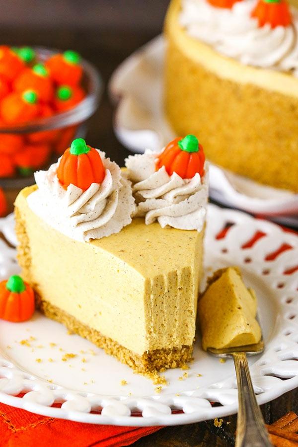 No Bake Kürbiskäsekuchen Rezept ohne Baken Käsekuchen