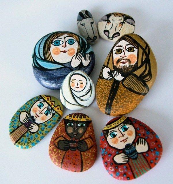 Steine bemalen zu Weihnachten – künstlerische Ideen und Tipps für eine festliche Winterdeko geburt jesu religion