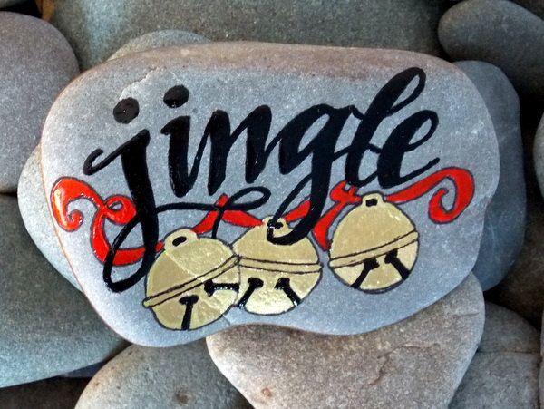 Steine bemalen zu Weihnachten – künstlerische Ideen und Tipps für eine festliche Winterdeko jingle bells lied kinderlied