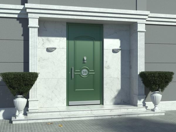 Tolle Ideen für die Haustür Pirnar-Eingang-Mischung-Weiß-Gruen