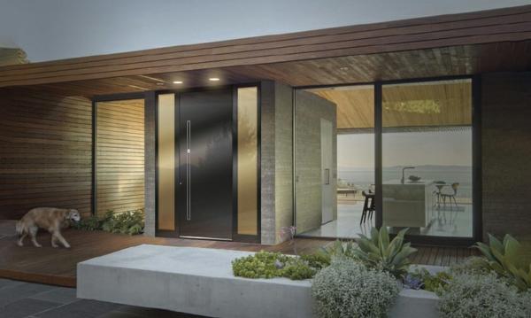 Tolle Ideen für die Haustür Pirnar-aluminium-Holzdekor-Eingang