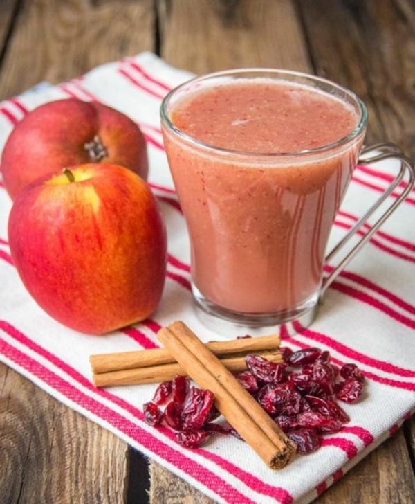 Warme Smoothies Wintergetränke Apfel Herbstfrüchte