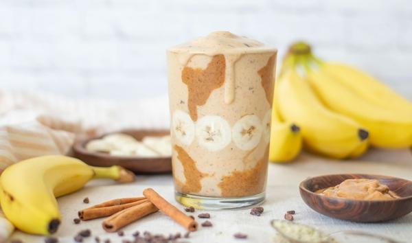 Warme Smoothies Wintergetränke Bananen Zimt Smoothie