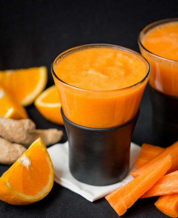 Warme Smoothies Wintergetränke Ingwer Möhren Orangen