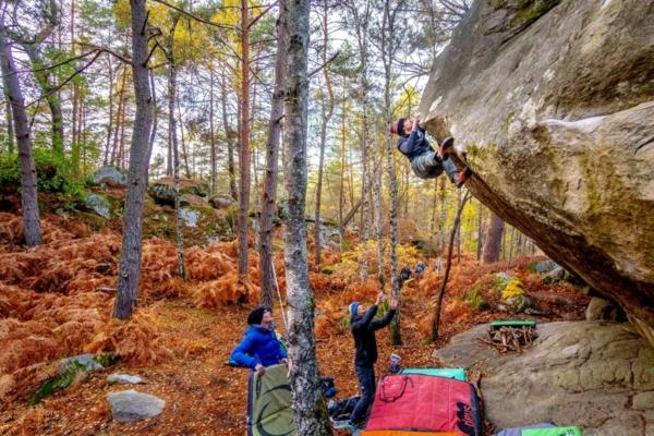 Was ist Bouldern Klettern ohne Seil Schwierigkeitsgrad