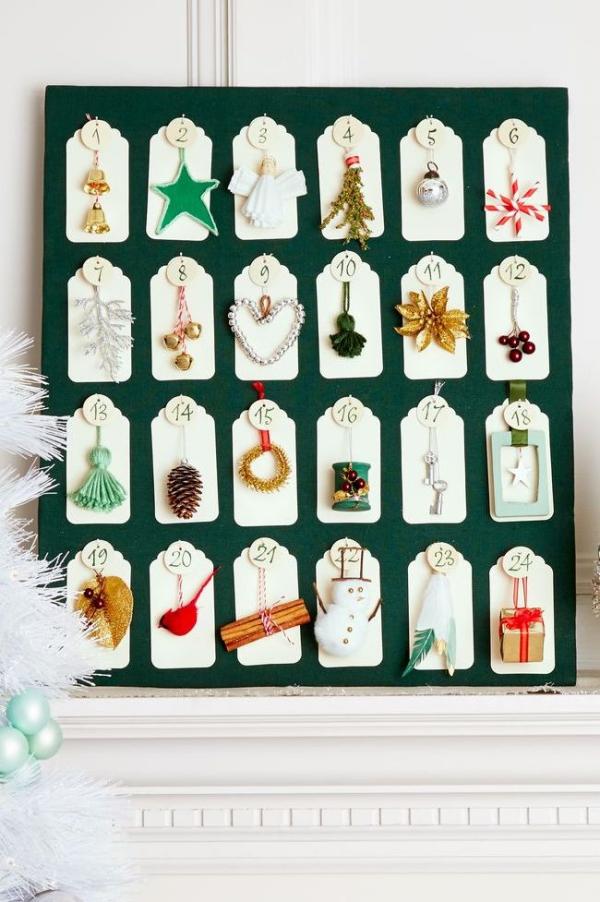 Winterdeko basteln zu Weihnachten adventkalender ausgefallen bunt lustig