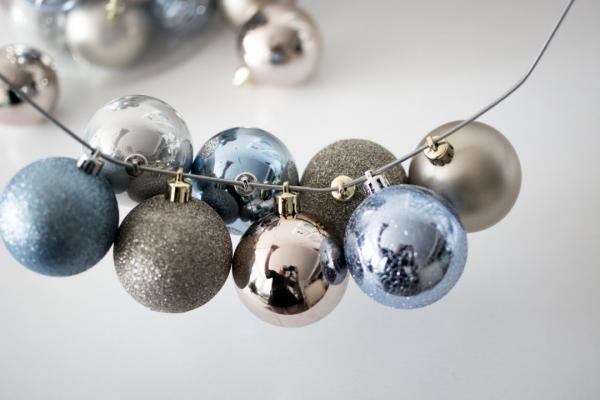 Winterdeko basteln zu Weihnachten deko ideen ornamente bügel anleitung