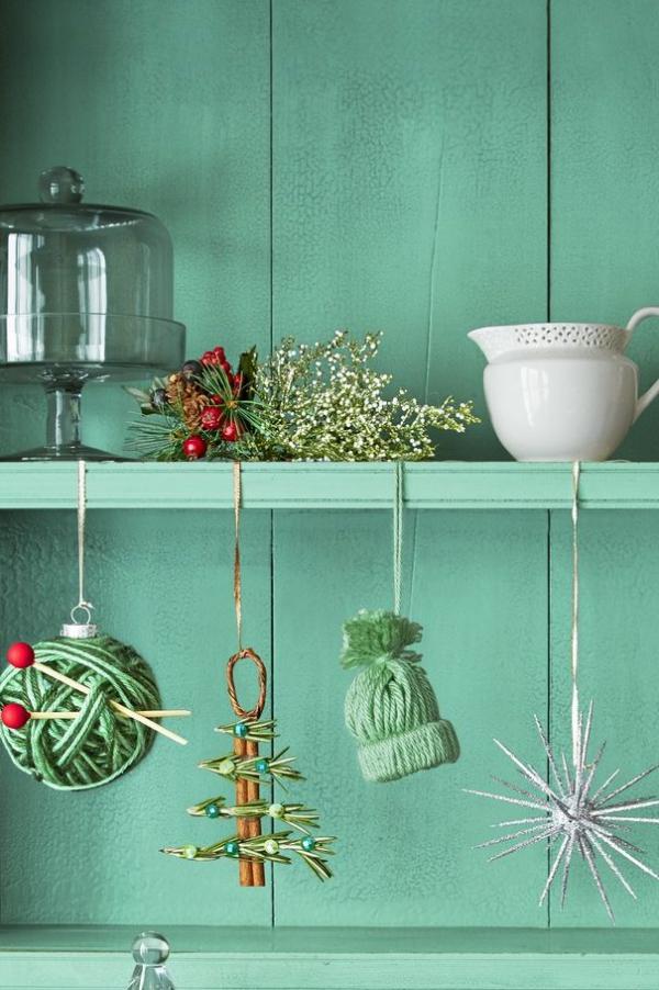 Winterdeko basteln zu Weihnachten einfache ornamente selber machen weihnachten