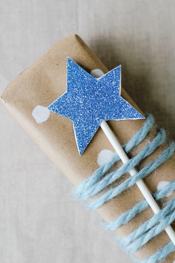 Zauberstab basteln mit Kindern zu Halloween oder Fasching – Ideen und Anleitungen stab stern weihnachten ideen