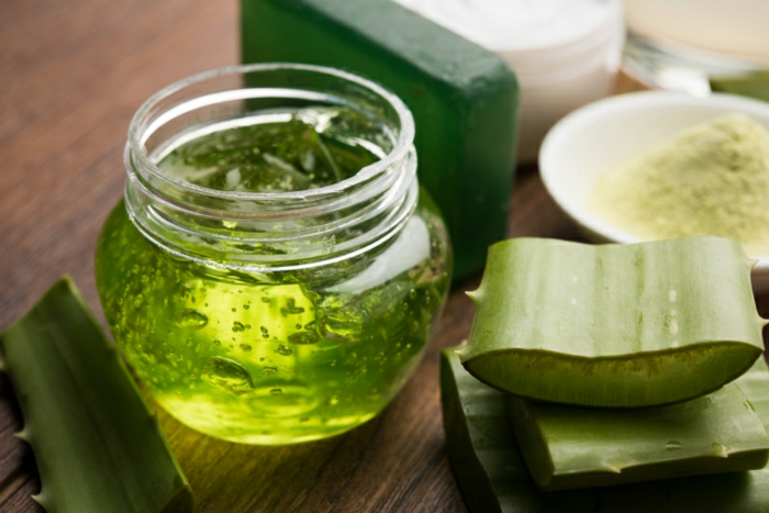 Aloe vera juice, gel, moisturising cream, soap and powder powder