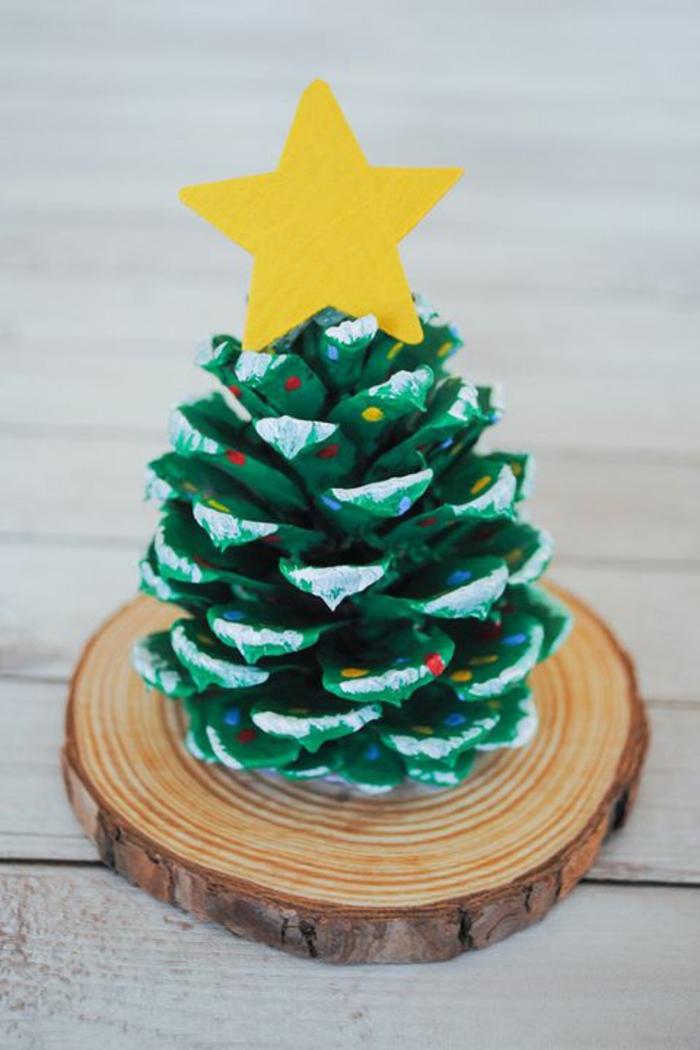 basteln mit 2jährigen weihnachtsgeschenke basteln diy geschenke tannenbaum aus tannenzapfen
