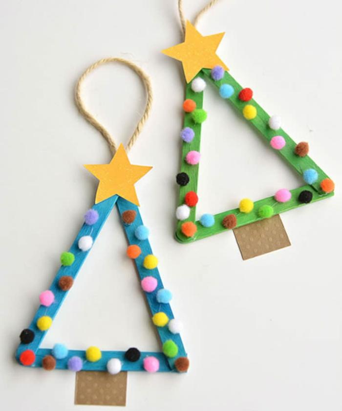 basteln mit 2jährigen weihnachtsgeschenke basteln diy geschenke xmasbaum