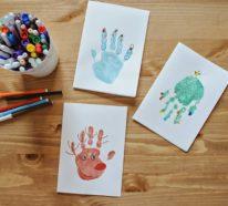 Weihnachtsbasteln mit 2 jährigen Kindern – DIY Geschenke mit Herz