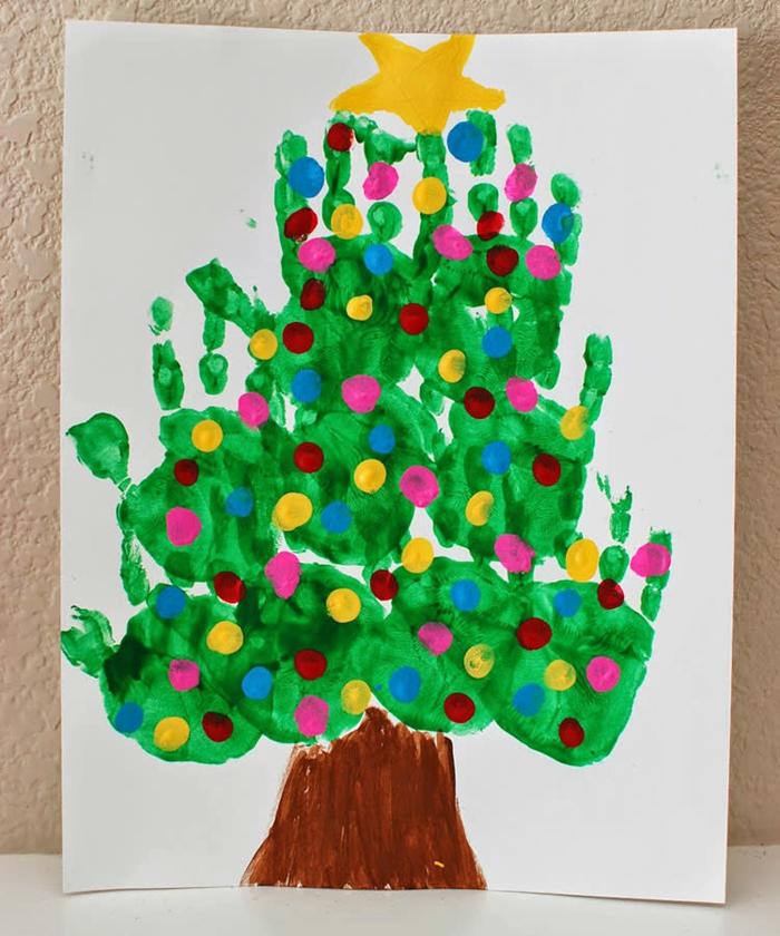 basteln mit 2jährigen weihnachtsgeschenke basteln diy ideen handabdruck