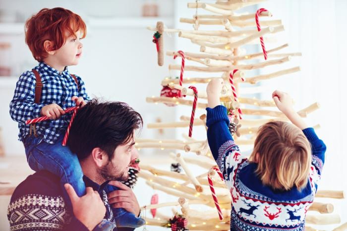 basteln mit 2jährigen weihnachtsgeschenke basteln diy ideen weihnachtsbaum