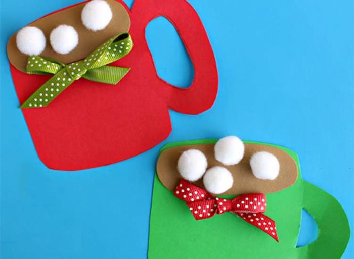 basteln mit 2jährigen weihnachtsgeschenke basteln mit kindern tasse