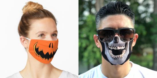 covid 19 mundschutzmasken zu halloween