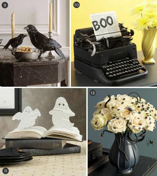 diy idee halloween tischdeko