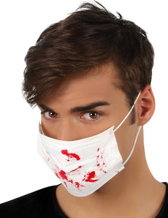einfache halloween mundschutzmasken selber machen mit kunstblut