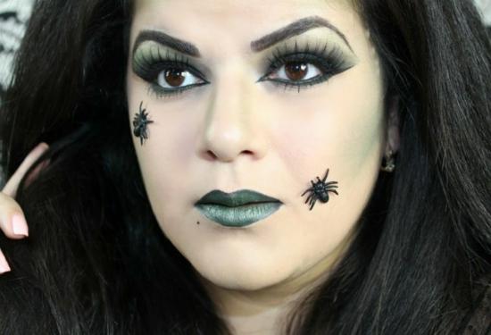 einfache last minute halloween make up idee hexe schminken