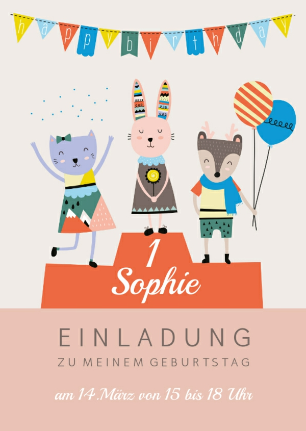 einladungskarte-kindergeburtstag-tiere-auf-siegerpodest