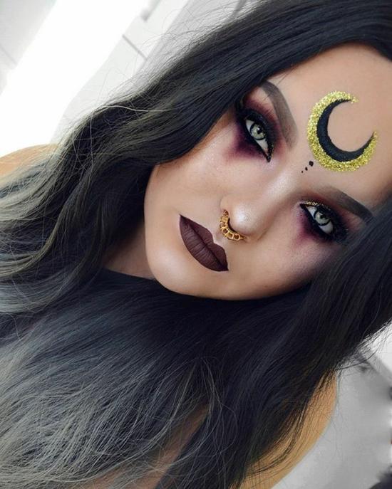 geheiminsvolle sexy hexe schminken