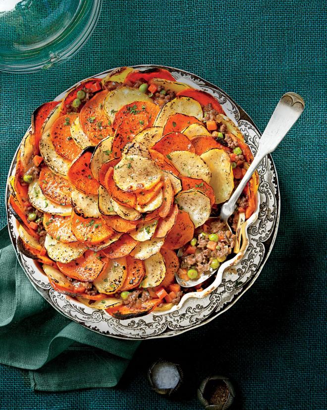 gesundes Abendessen schnelle Rezepte Hirten-Pie mit Kartoffelkruste
