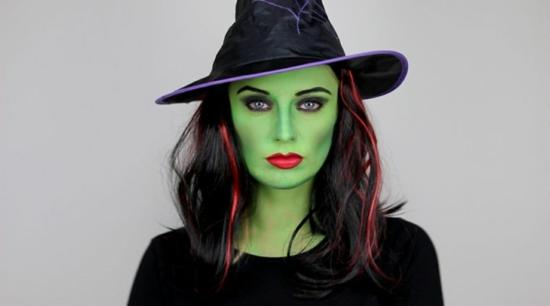 grüne hexe schminken leicht gemacht